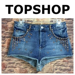 💙Topshop MOTO studded shorts in size 28